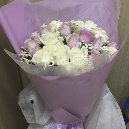 A031淡雅清新玫瑰花束傳情花束生日情人節花束