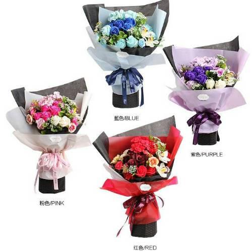 Y005-愛的饗宴韓式香皂玫瑰花束