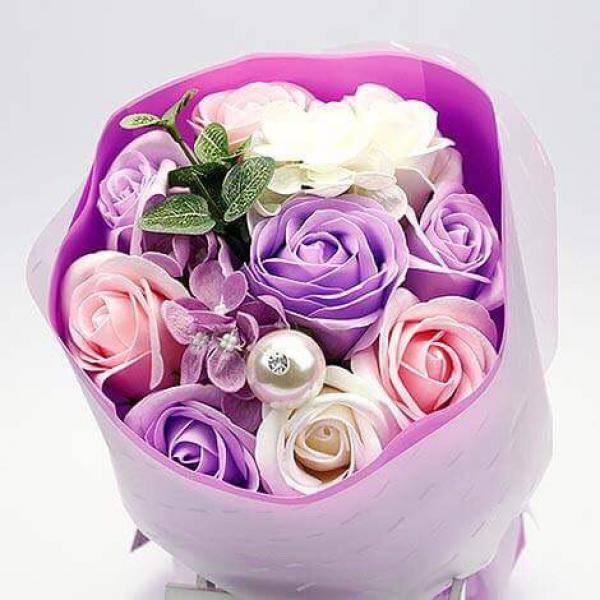 Y005厄瓜多爾珍珠玫瑰香皂花束情人節花束