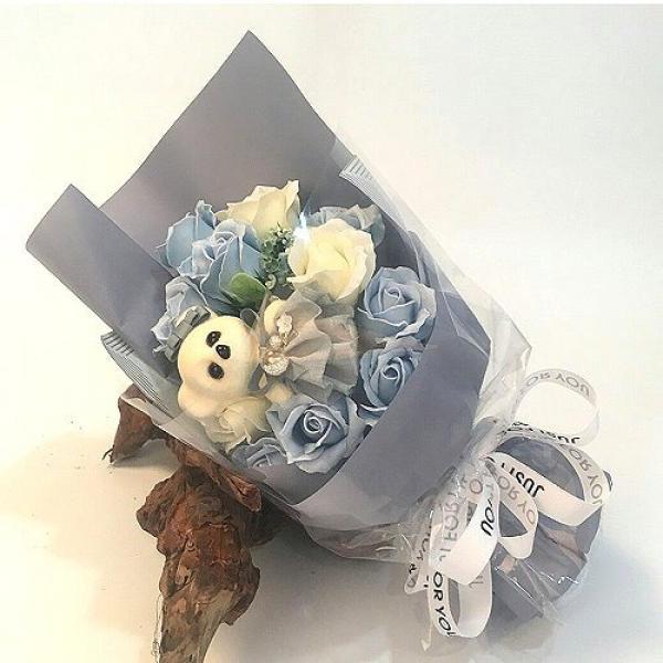 Y007最愛亞瑟珠寶熊香皂花(粉色藍色灰藍請註明)來店自取