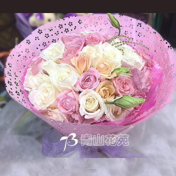 A041惜福玫瑰桔梗花束生日花束祝福花束