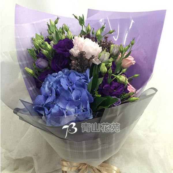 A042紫色戀情傳情花束生日花束