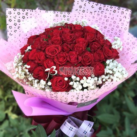 A048心心相印玫瑰花束大型花束求婚花束