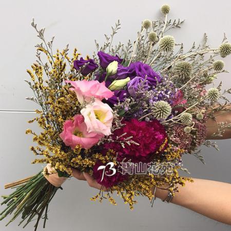 J011愛在刻骨銘心時乾燥花畢業花束生日花束