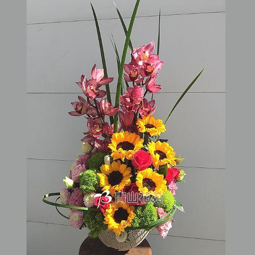 C033時尚喜慶盆花會場佈置開幕榮陞賀禮桌上盆花