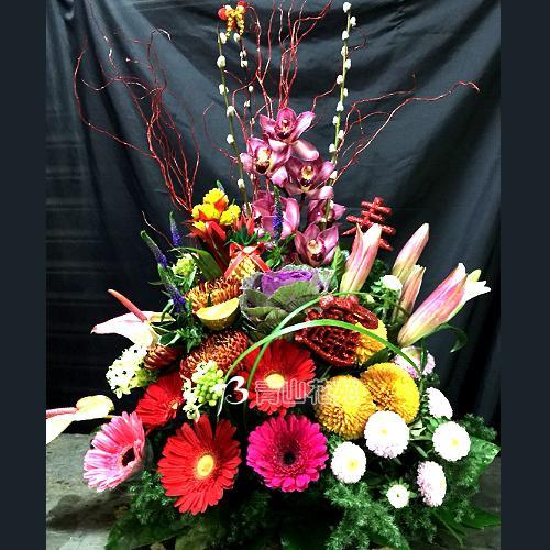 C034祝賀喜慶盆花會場佈置開幕榮陞賀禮新春花禮