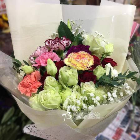 A058滿滿的愛母親節花束康乃馨花束