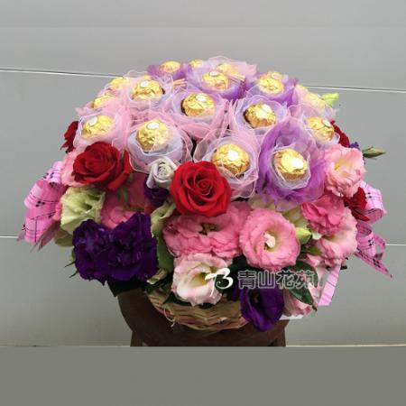 C035愛的表白溫馨精緻盆花母親節情人節生日盆花