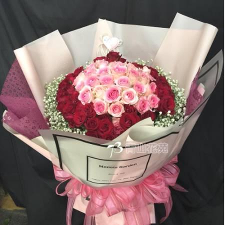A059愛你這件事玫瑰花束情人節花束台東代送花店