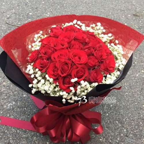 A061幸福約定紅玫瑰花束情人節生日花束