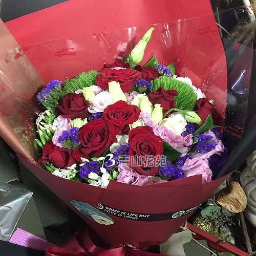 A072我們不一樣玫瑰桔梗花束演唱會獻花花束