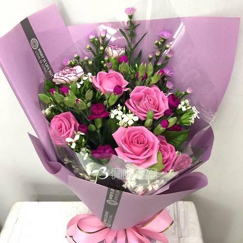 A076因為有你滿滿的愛母親節花束