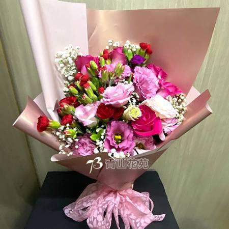 A089馨心相映康乃馨玫瑰花束母親節花束