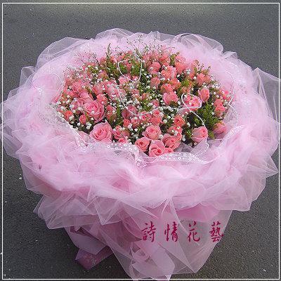 F1005真心黛安娜玫瑰99朵求婚花束大型花束