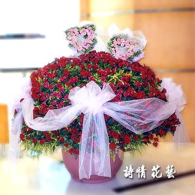 F1001999天長地久紅玫999朵求婚花束
