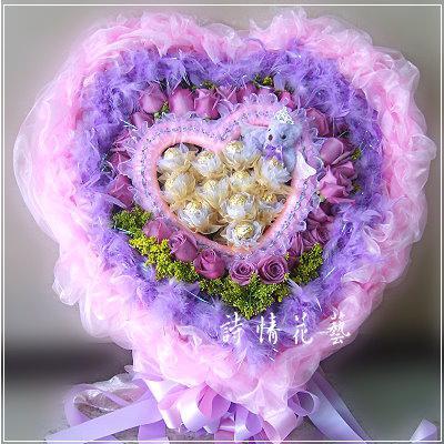 F016我們的愛玫瑰金莎花束生日情人節花束