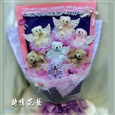 G001天使傳情玩偶花束