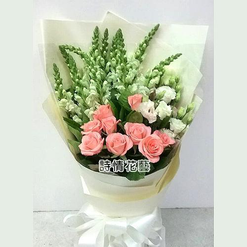 F061真摯的情誼生日特殊日子的花束
