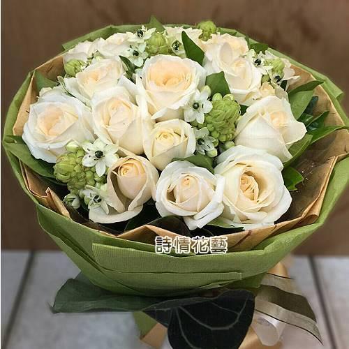 F069深深的愛玫瑰花束情人節花束