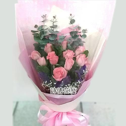 F084甜蜜愛戀玫瑰花束生日花束