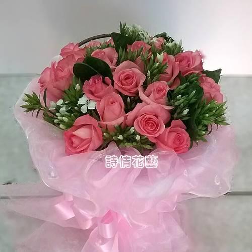F085浪漫滿屋浪漫玫瑰花束情人節花束