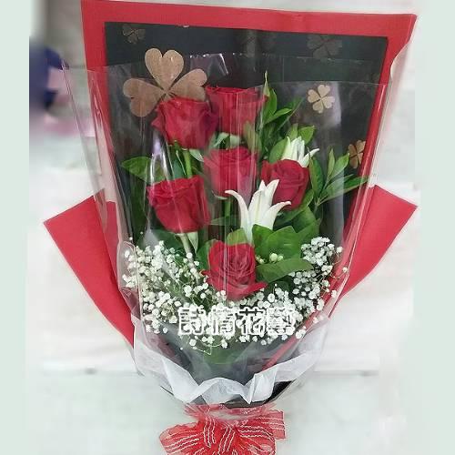 F104永遠念妳想你愛你進口玫瑰花束