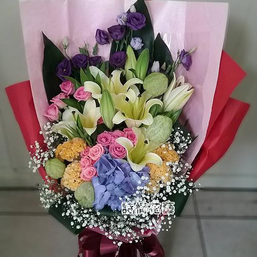 F107夢幻彩虹傳情花束生日情人節花束