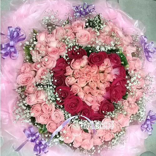 F1014真心守護玫瑰大型花束求婚花束