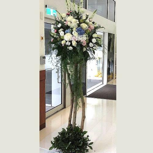 H033時尚花柱造型花柱(一對)喜慶花禮