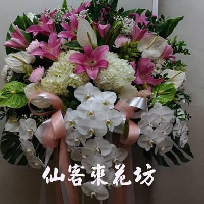 【S-377】喪禮花籃~高架花籃追思高架花籃(一對)