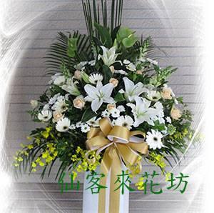 【S-304】喪禮花籃~高架花籃追思高架花籃(一對)