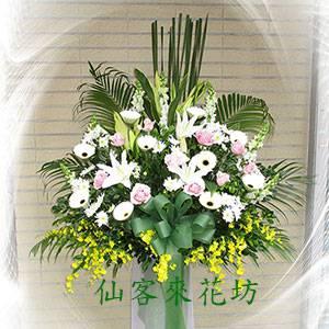 【S-312】喪禮花籃~高架花籃追思高架花籃(一對)