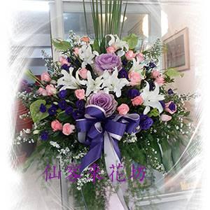 【C-564】羅馬花柱開幕祝賀高架花籃、開幕藝術花籃1對