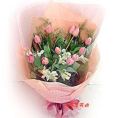 【B-080】花束精選:百合花束-情人花束-情人節花束-傳情花束情人節花束