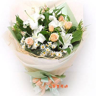 【B-081】花束精選:百合花束-情人花束-情人節花束-傳情花束情人節花束