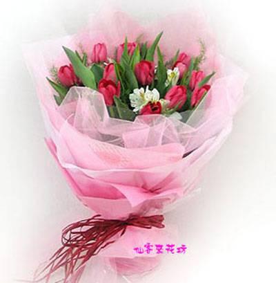 【B-084】花束精選:百合花束-情人花束-情人節花束-傳情花束情人節花束