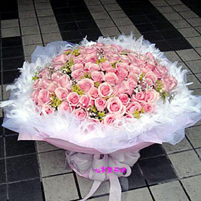 【R-096】花束精選:玫瑰花束-情人花束-情人節花束-傳情花束99玫瑰花束