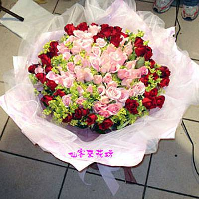 【R-036】花束精選:玫瑰花束-情人花束-情人節花束-傳情花束99玫瑰花束