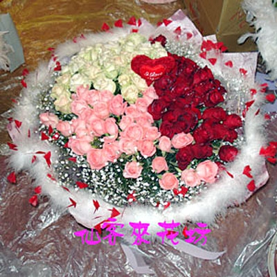 【R-048】花束精選:玫瑰花束-情人花束-情人節花束-傳情花束99玫瑰花束