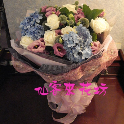 【B-163】花束精選:百合花束-情人花束-情人節花束-傳情花束情人節花束