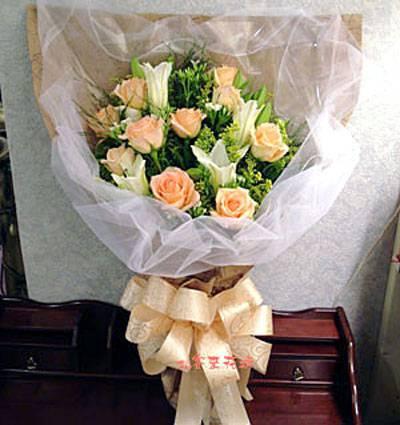 【B-105】花束精選:百合花束-情人花束-情人節花束-傳情花束情人節花束