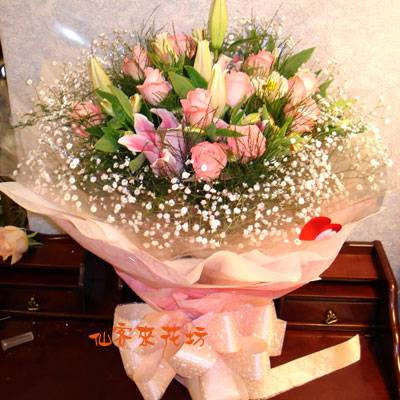 【B-116】花束精選:百合花束-情人花束-情人節花束-傳情花束情人節花束