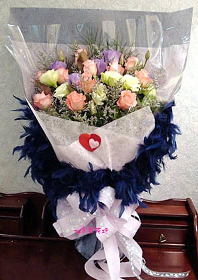 【B-125】花束精選:百合花束-情人花束-情人節花束-傳情花束情人節花束