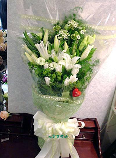 【B-126】花束精選:百合花束-情人花束-情人節花束-傳情花束情人節花束