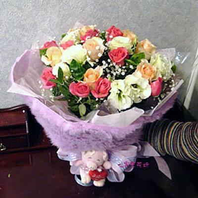 【B-129】花束精選:百合花束-情人花束-情人節花束-傳情花束情人節花束