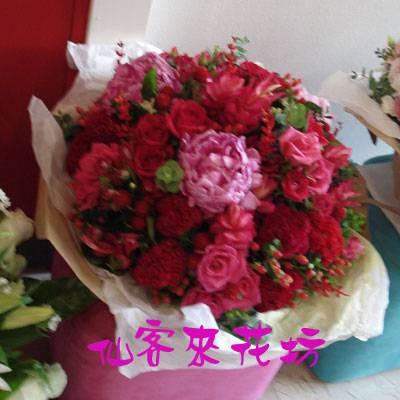 【B-166】花束精選:百合花束-情人花束-情人節花束-傳情花束情人節花束