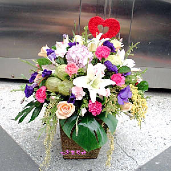 【A-114】藝術盆花、:盆花:母親節盆花-溫良恭撿