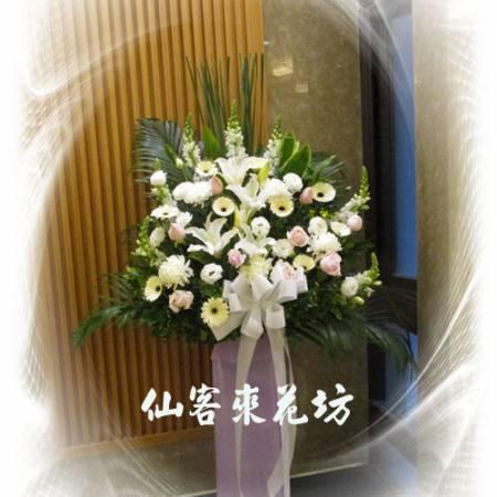 【S-103】喪禮花籃~高架花籃追思高架花籃(一對)