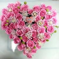 C002心型玫瑰造型花禮浪漫花禮