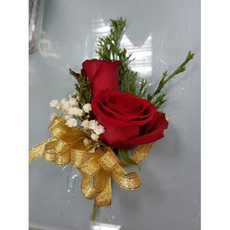 G003胸花-紅玫瑰(2朵)